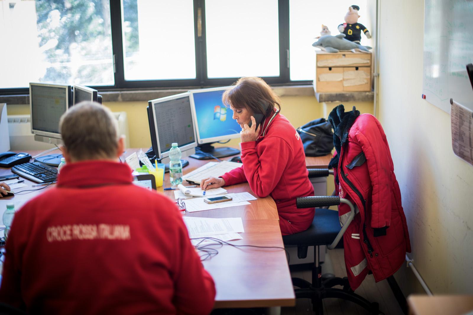 Sala Operativa. Sala Roma.Croce Rossa Italiana - Comitato Area Metropolitana di Roma Capitale.