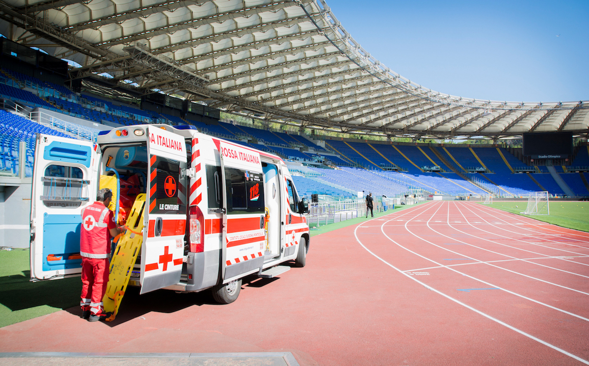 Stadio Olimpico AS Roma. Assistenza Eventi. Assistenza SanitariaCroce Rossa Italiana - Comitato Area Metropolitana di Roma Capitale.